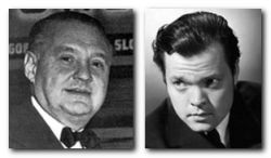 George Schaeffer and Orson Welles