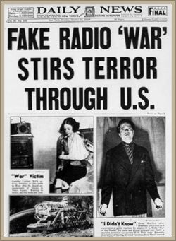 war of the worlds headline - 2