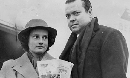 Chris Welles with her father in 1952.