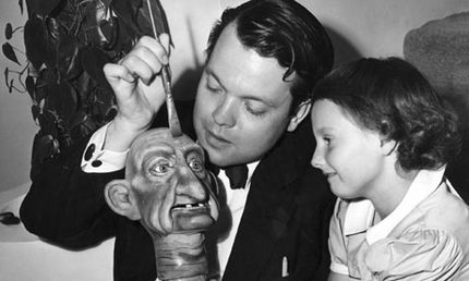 Orson Welles with daughter Christopher
