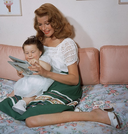 Rebecca Welles and Rita Hayworth, circa 1950