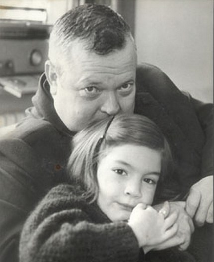 Orson Welles and daughter Beatrice