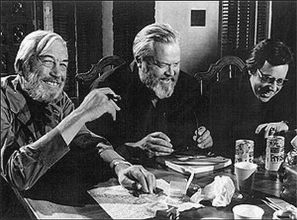 John Huston, Orson Welles and Peter Bogdanovich