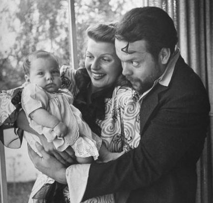 Orson Welles and second wife Rita Hayworth with Rebecca