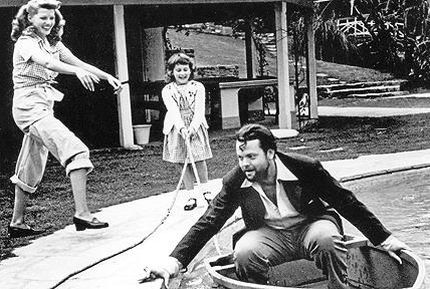 Rita Hayworth, Chris Welles and Orson Welles