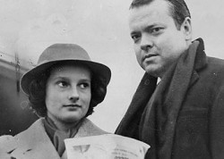 Chris Welles and her famous father in 1952