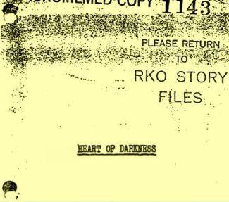 unfilmed orson welles scripts available online wellesnet orson